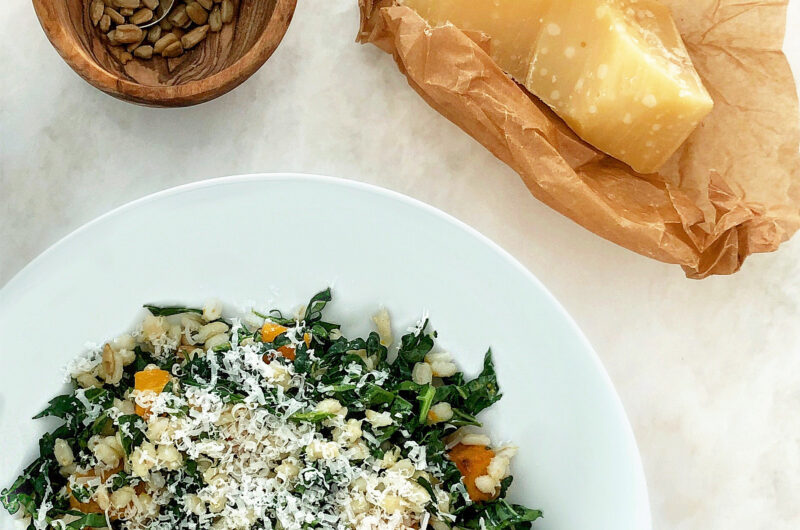 Butternut Squash, Kale, and Farro Salad