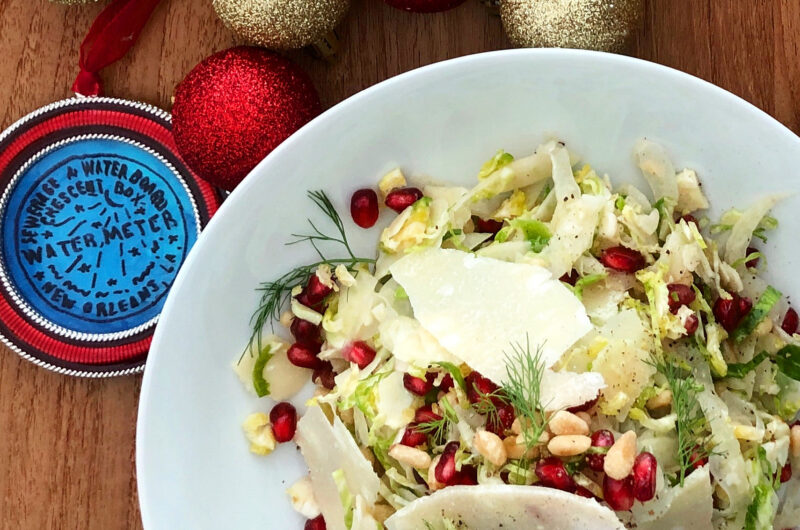 Brussels Sprout, Fennel, and Pomegranate Salad
