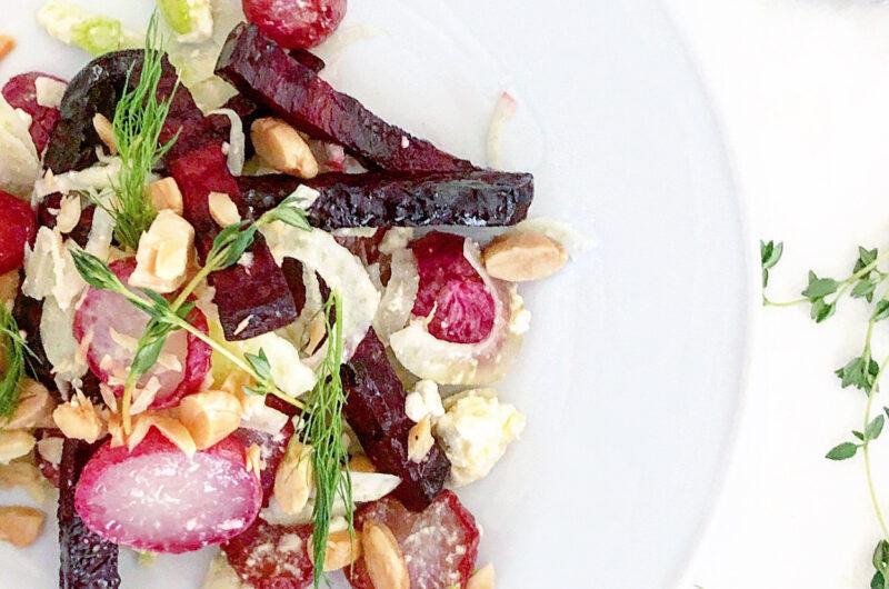 Roasted Radish, Fennel, and Beet Salad