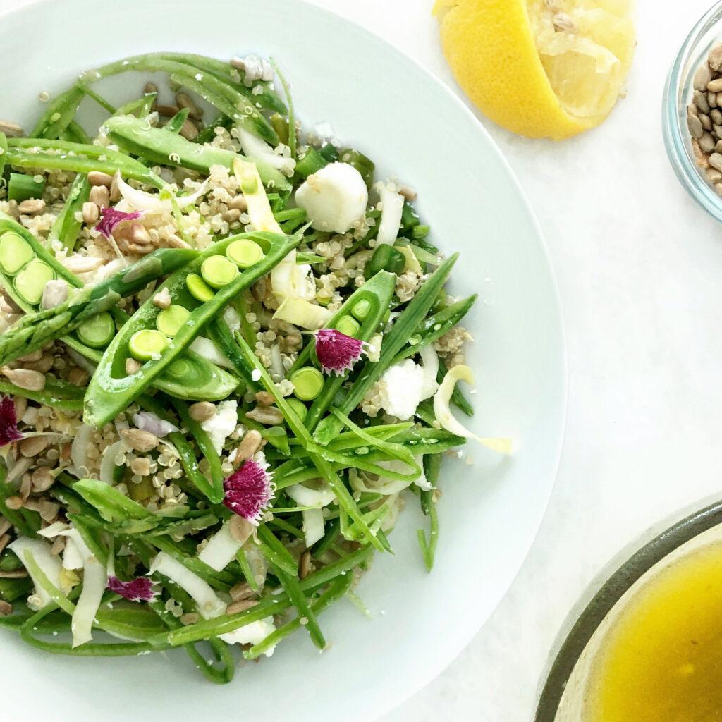 Asparagus, Snap Pea, and Quinoa Salad